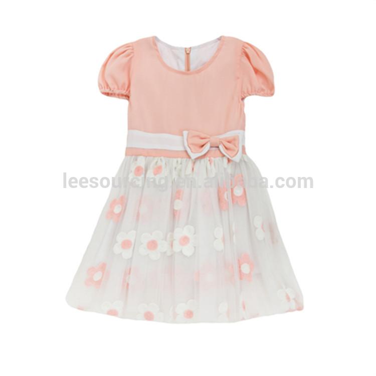 b050cf6e9aff Top Προμηθευτής Χονδρικό Pretty μωρό κορίτσια Φορέματα με τα παιδιά τόξο  γαμήλιο γλέντι φοράτε λουλούδι κορίτσι