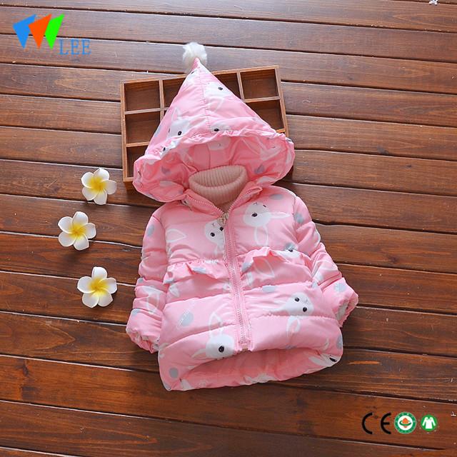 6c8b4439c2e παλτό χειμώνα καλύπτεται με το κεφάλι κουνέλι κορίτσια παιδιά  βαμβάκι-γεμισμένο σχεδιαστής χειμώνα κάτω από