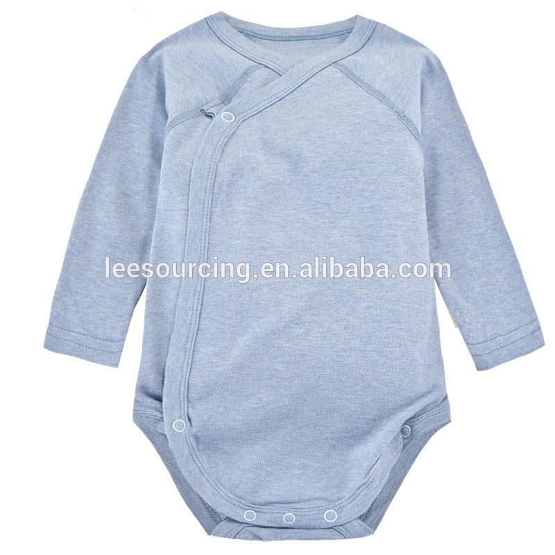 e3be186c8436 Υψηλής ποιότητας μωρό κενό μπλούζα από οργανικό βαμβάκι onesie μωρό